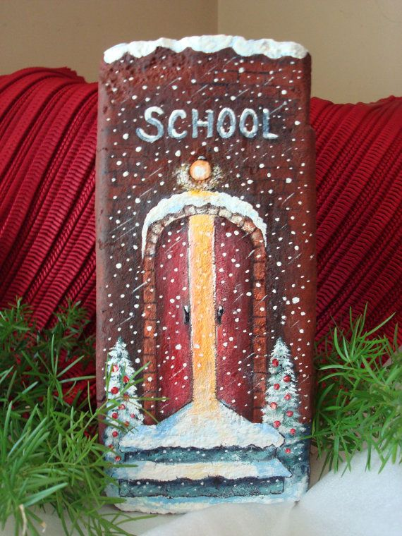 Acrylic painting of school house on a 100 year by SunflowerArtist, $30.00