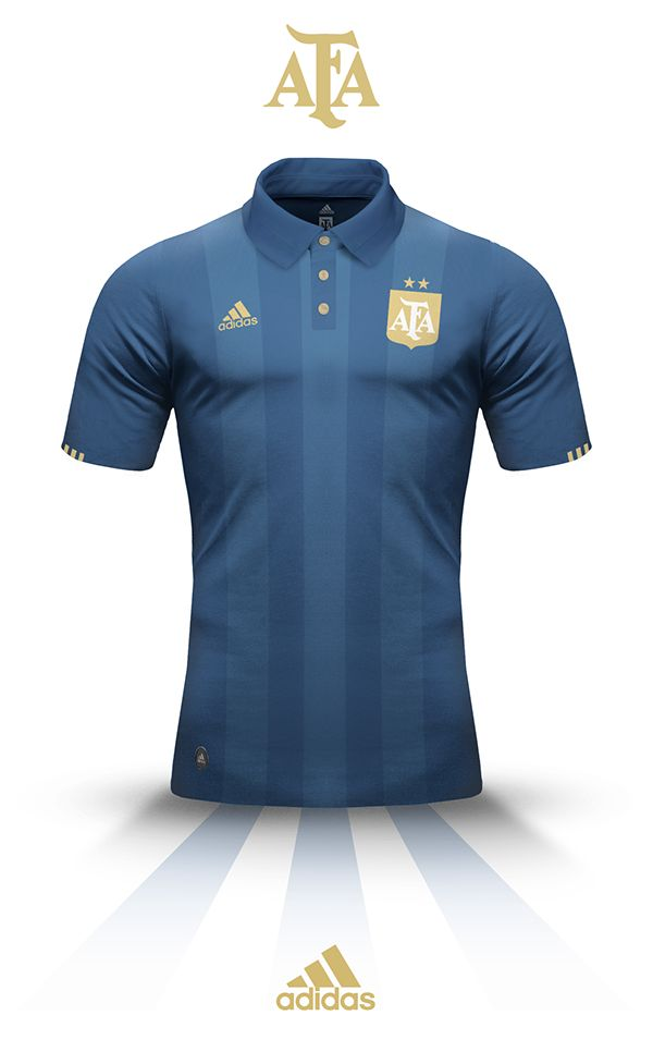 Personal work for Argentina's kit. I wanted to see an Adidas jersey without the stripes on the shoulders, and mainly, going back to simple and vintage.