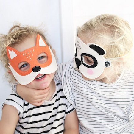 Minimade toys on sale - kids playing with toys - handmade toys - playtime - animal masks