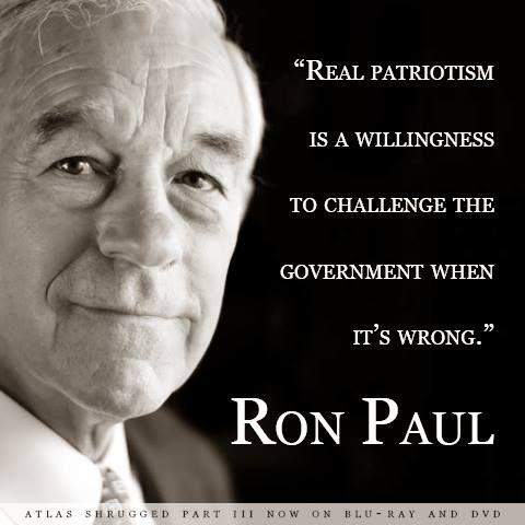 What is patriotism? Ron Paul