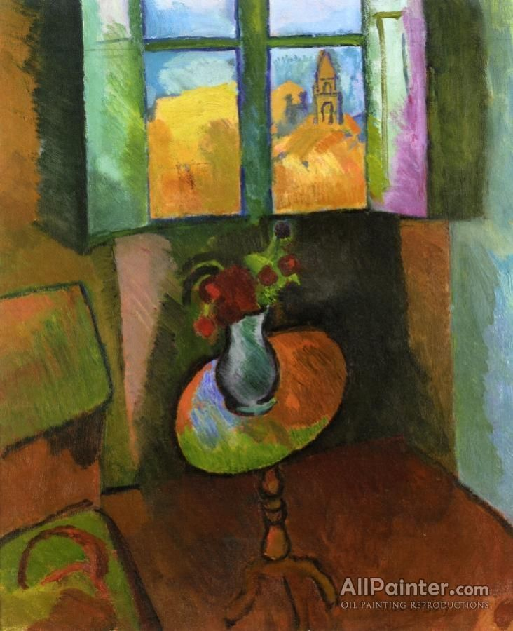 Raoul Dufy,Pedistal Table, Rue Seguier oil painting reproductions for sale