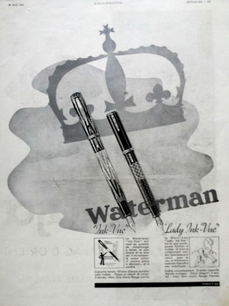 St. Raphael aperitif Waterman fountain pens retro poster