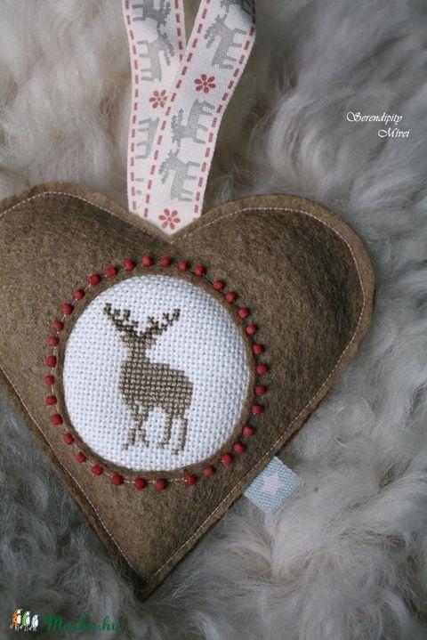 Rénszarvas szív (serendipity22) - Meska.hu