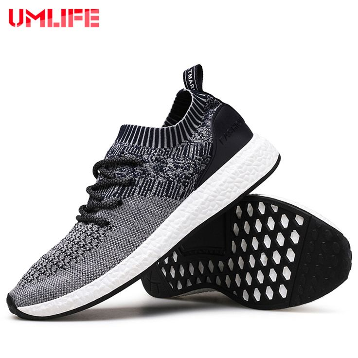 UMLIFE Running Shoes For Men's Mesh Breathable Sport Shoes Men Height Increasing Sneakers Black Male Light Comfort Shoes Sports
