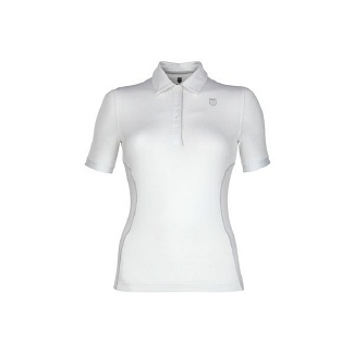 K-Swiss Women's Short Sleeve Polo Accessories (White/Highrise)- 19.0 OT