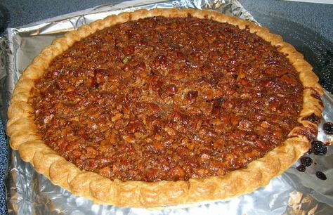 Utterly Deadly Pecan Pie. I've never been a fan of Pecan pie until I had a Christmas cake disaster and turned to this recipe because it was all the ingredients I had on hand. Everyone else was on the same page until we all had a piece of this DELICIOUS PIE! 5-Stars folks!!!! I think the boil is the trick that turns this pie into delish :)