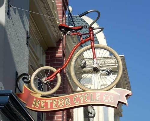 Cool bike shop sign