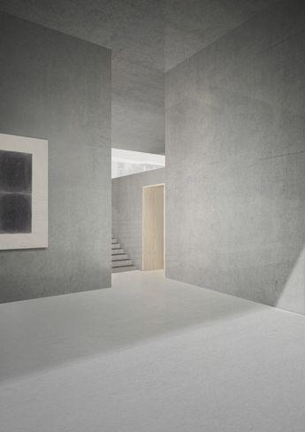 Archive Marzona in Berlin Germany - student project by Paula Ot & Daniel Schurer - render