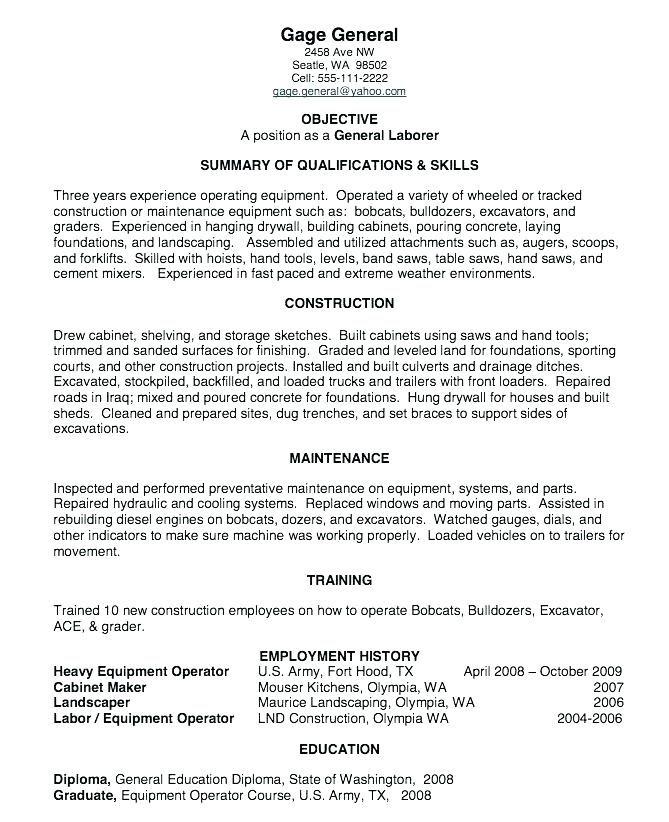 Landscape Maintenance Worker Resume