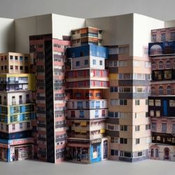 Artist Mathilde Nevit creates gorgeous pop up cities from carefully sculpted paper.