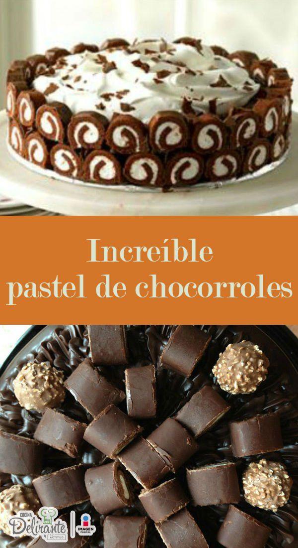 pastel de chocorroles   CocinaDelirante
