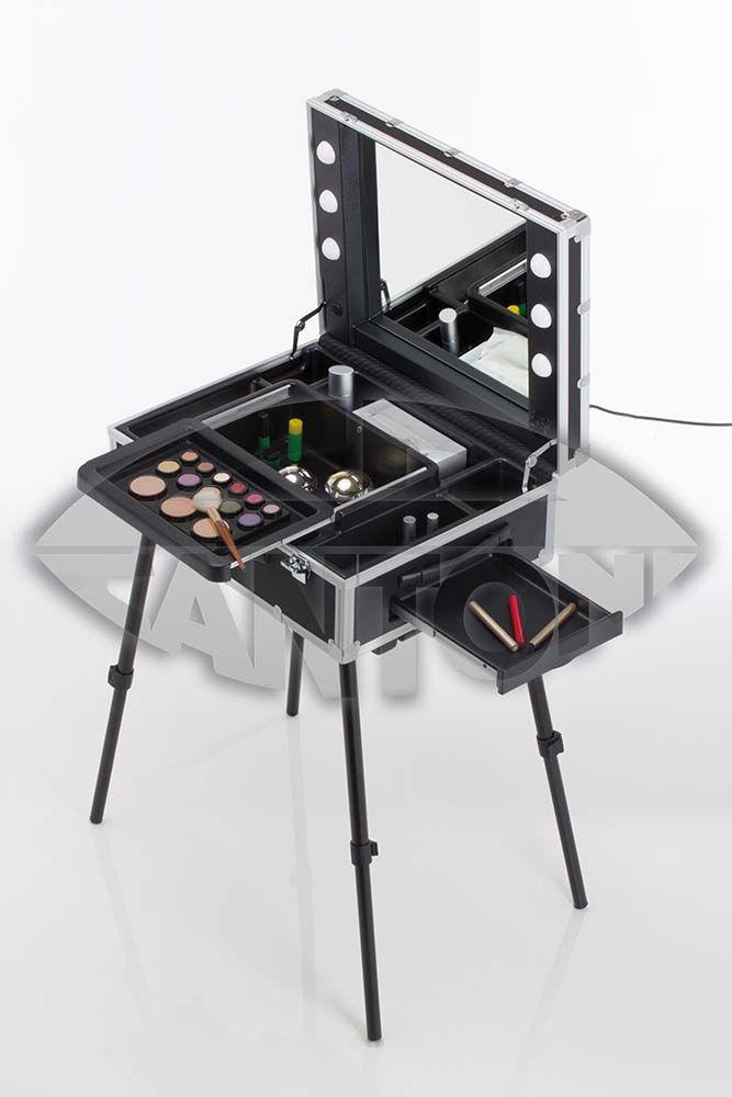 Vt103 Portable Make Up Station Table Makeup Case