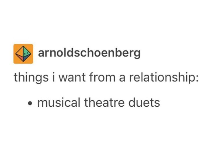 Or Disney or old musicals or Christmas or whatever, just singing. <3