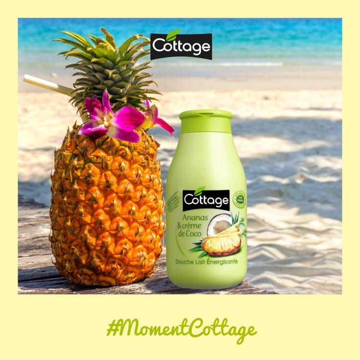 Envie d'un moment fraîcheur ? Laissez-vous envahir par l'effet rafraichissant et énergisant de la Douche Lait Ananas & Crème de Coco