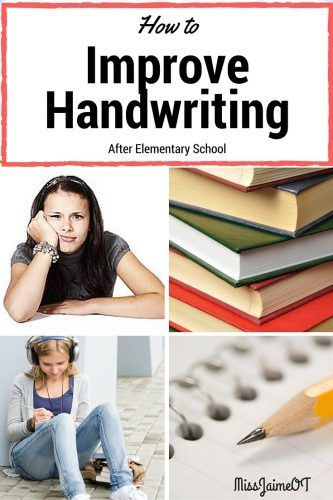 middle school and handwriting, tips and tricks to improve legibility, OT strategies for handwriting,