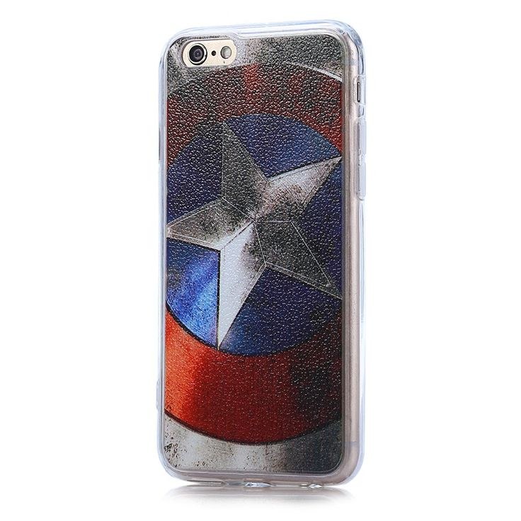 Captain America Pattern PVC Material Protective Back Case for iPhone 6 / 6S