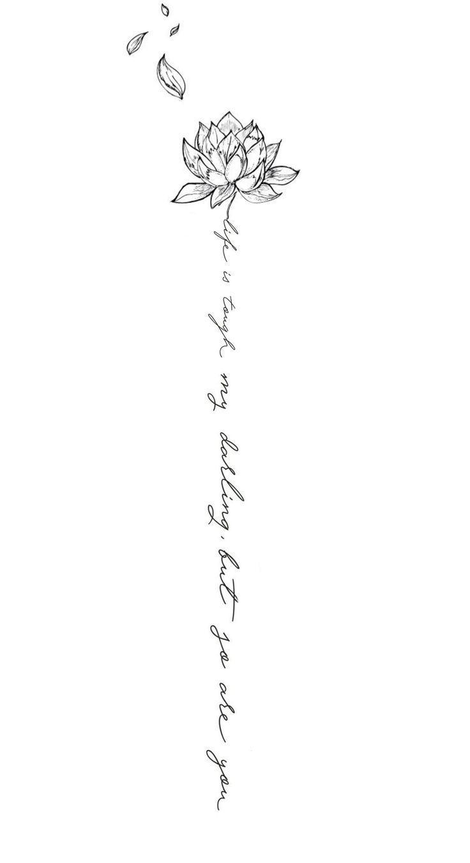Mein Wirbelsäulentattoo Design. -Michaela Paige. – Tattoo ideen – #Design #Id … #flowertattoos