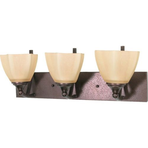 Website Picture Gallery Buy the Nuvo Lighting Copper Bronze Direct Shop for the Nuvo Lighting Copper Bronze Three Light Up Down Lighting Wide Bathroom Fixture from the Normandy