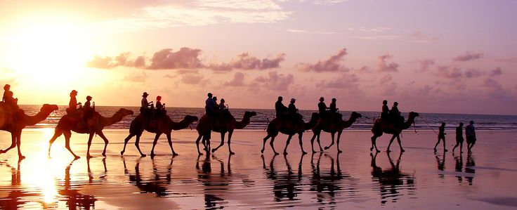 Broome is home to the famous tidal Cable Beach. A must see at sunset or sunrise.