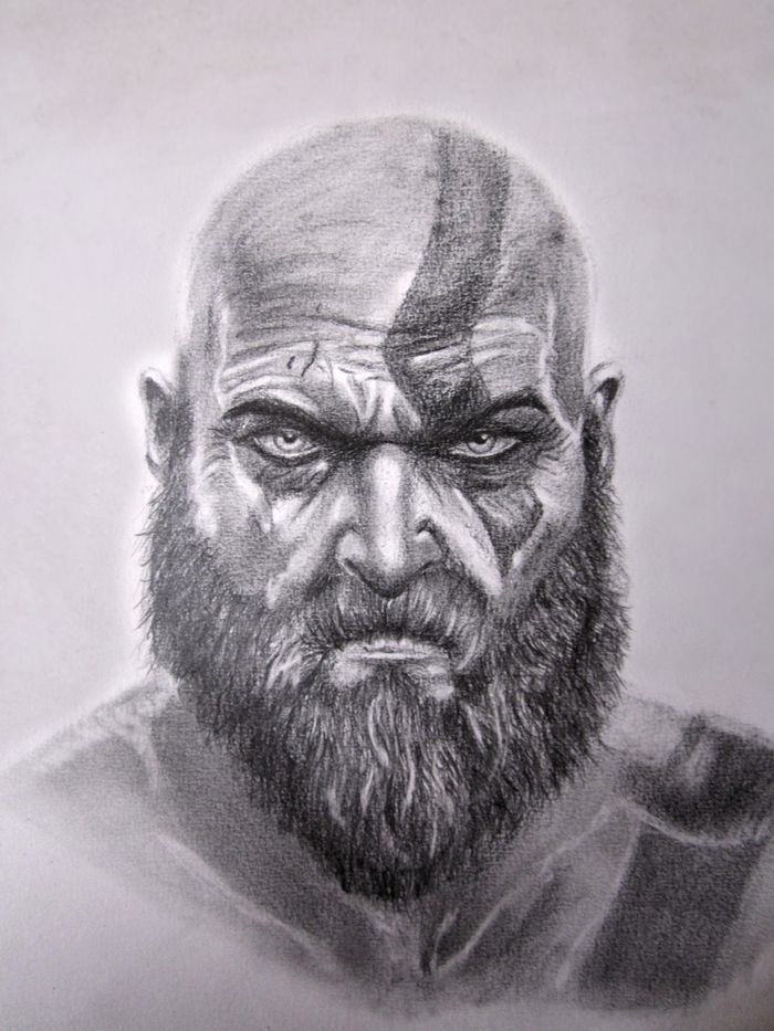 Kratos By Painter Barles Paredes Kratos Desenho Desenhos