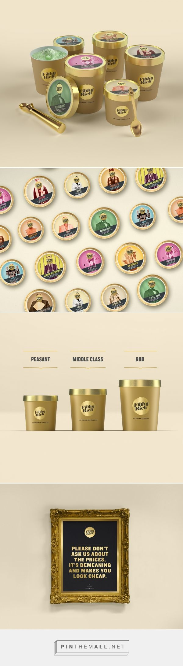 Filthy Rich Ice Cream Packaging by Milk NZ Limited | Fivestar Branding Agency – Design and Branding Agency & Curated Inspiration Gallery