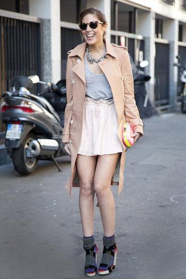 elastic waist skirt & tank