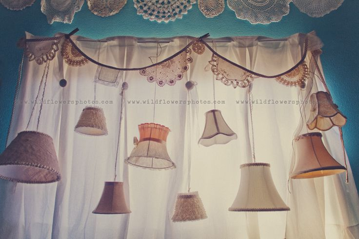 lampshades/ wonderful idea for a photo shoot backdrop from life made lovely.