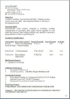 Common Resume Format Download | Resume Format