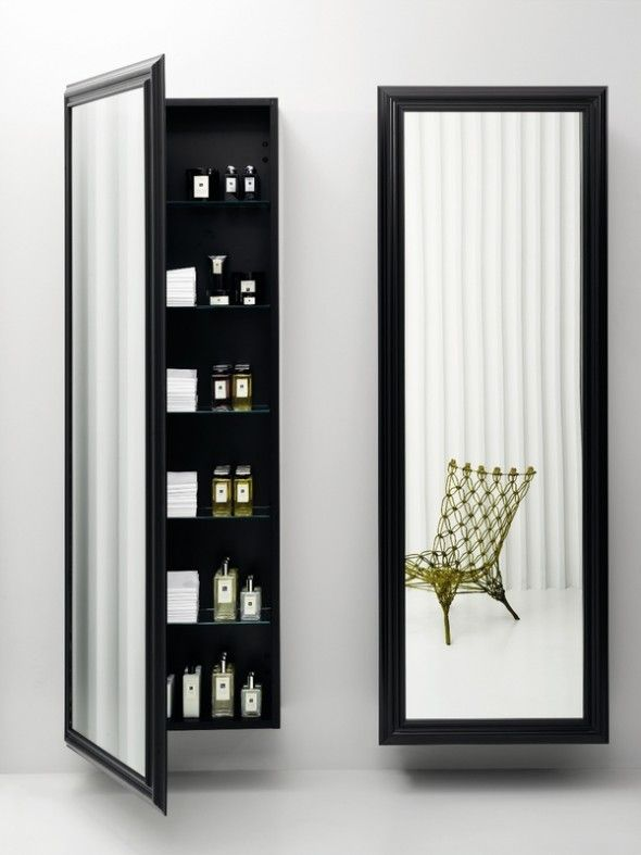 Best 25 mirror jewelry storage ideas on pinterest - Bathroom mirror with hidden storage ...