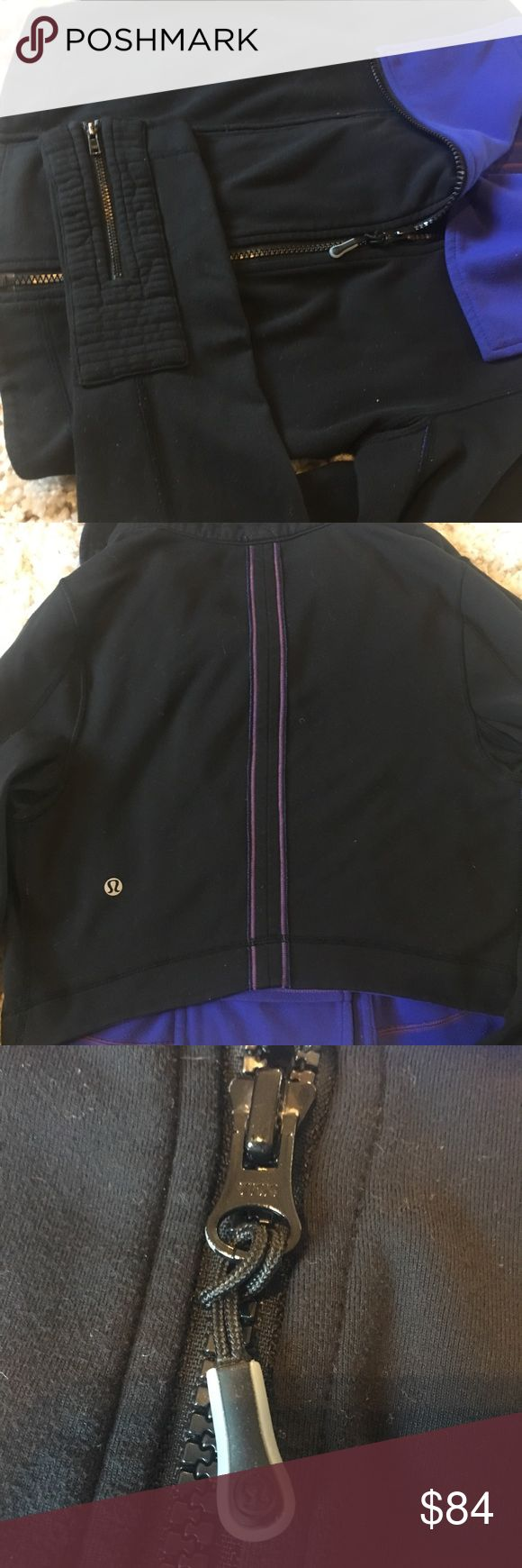 Lululemon principle jacket extremely rare !!! Excellent condition Lululemon Cropped principle jacket  Stored in smoke & pet free location Good pre-owned condition It is a cropped moto style with large collar, asymmetric zip and quilting and zippers at the sleeves. lululemon athletica Jackets & Coats