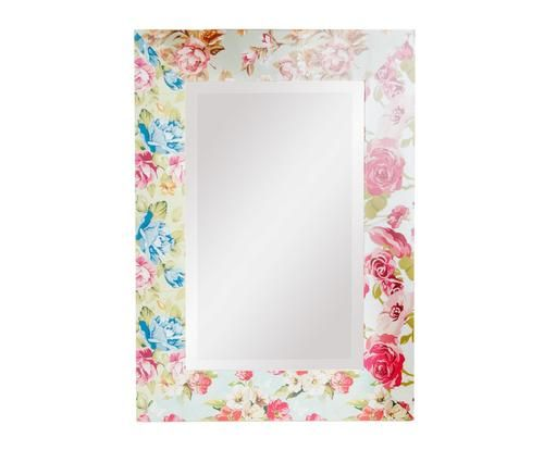 Specchio da parete in abete fiorita 50x70x2 cm Colore multicolor  ad Euro 55.00 in #Detall item #Home decoraccessories mirrors