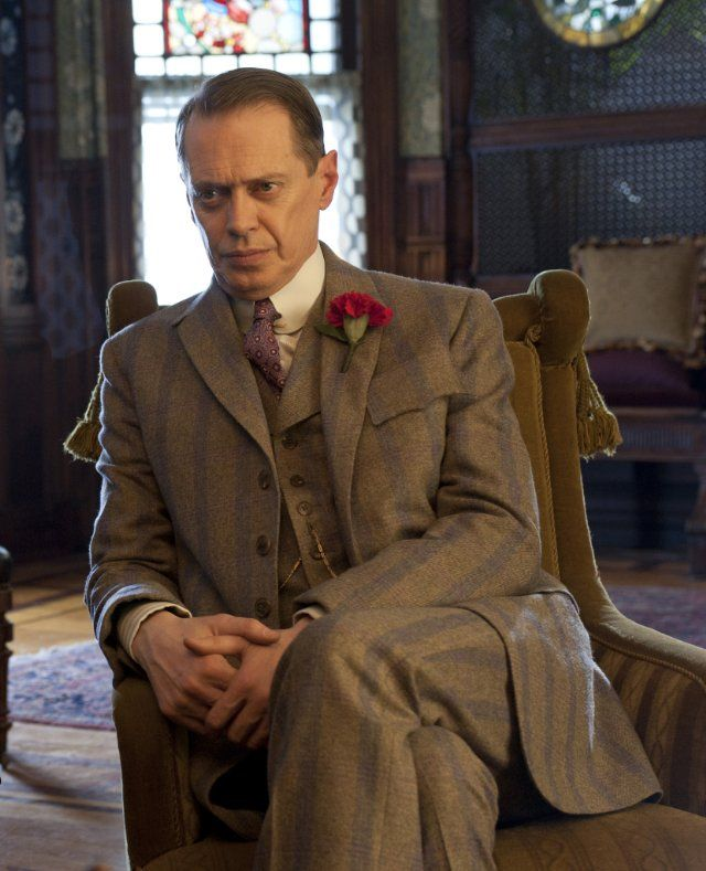 Steve  Buscemi - Nucky Thompson - in probably the best suit in the entire series.