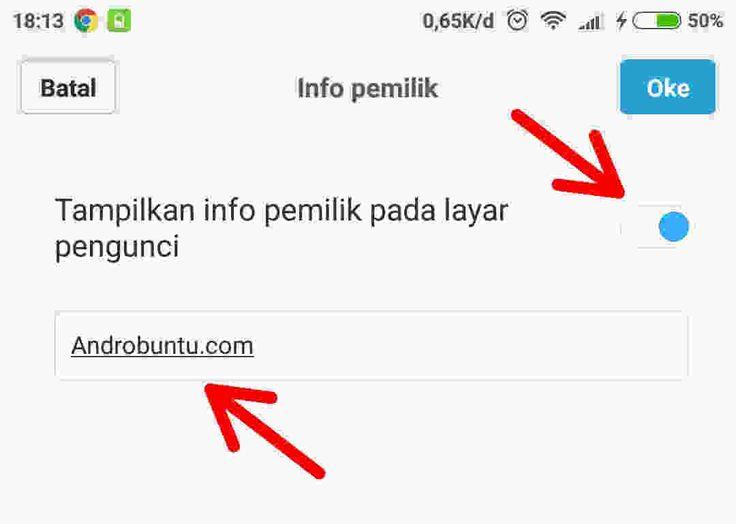Cara Menambahkan Informasi Pemilik di Lockscreen Pada MIUI 8