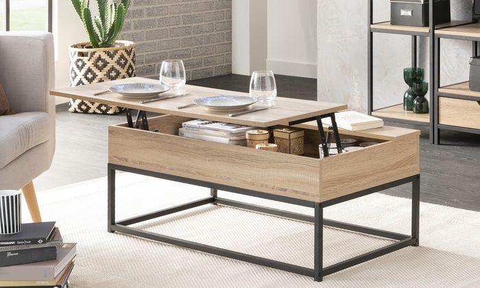 meuble salon table basse relevable