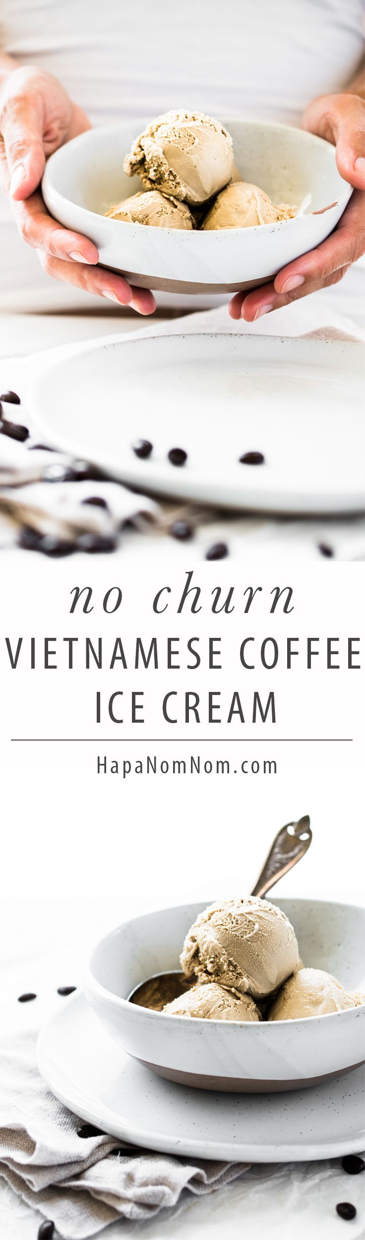 Vietnamese Iced Coffee is fantastic - hot day or otherwise! Now imagine that sweet and creamy beverage made into ice cream. What makes this even better?  NO expensive, counter --cluttering piece of equipment needed!