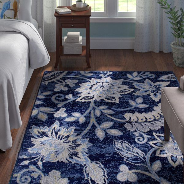 Ready To Stand Up To High Foot Traffic In The Entryway And Take On Occasional Spills Under The Kitchen Table Polyp Blue Area Rugs Area Rugs Navy Blue Area Rug