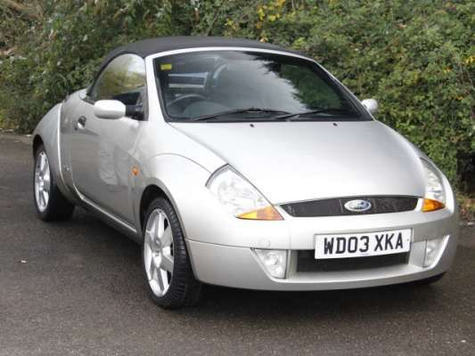 Used 2003 (03 reg) Silver Ford Streetka 1.6i Luxury 2dr for sale on RAC Cars