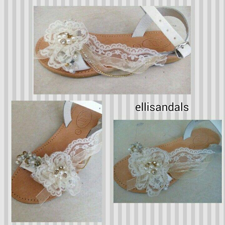 Handmade wedding sandals by elli lyraraki