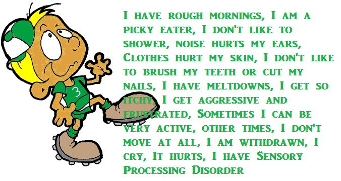 103 best images about sensory processing disorder quotes for Sensory motor integration disorder