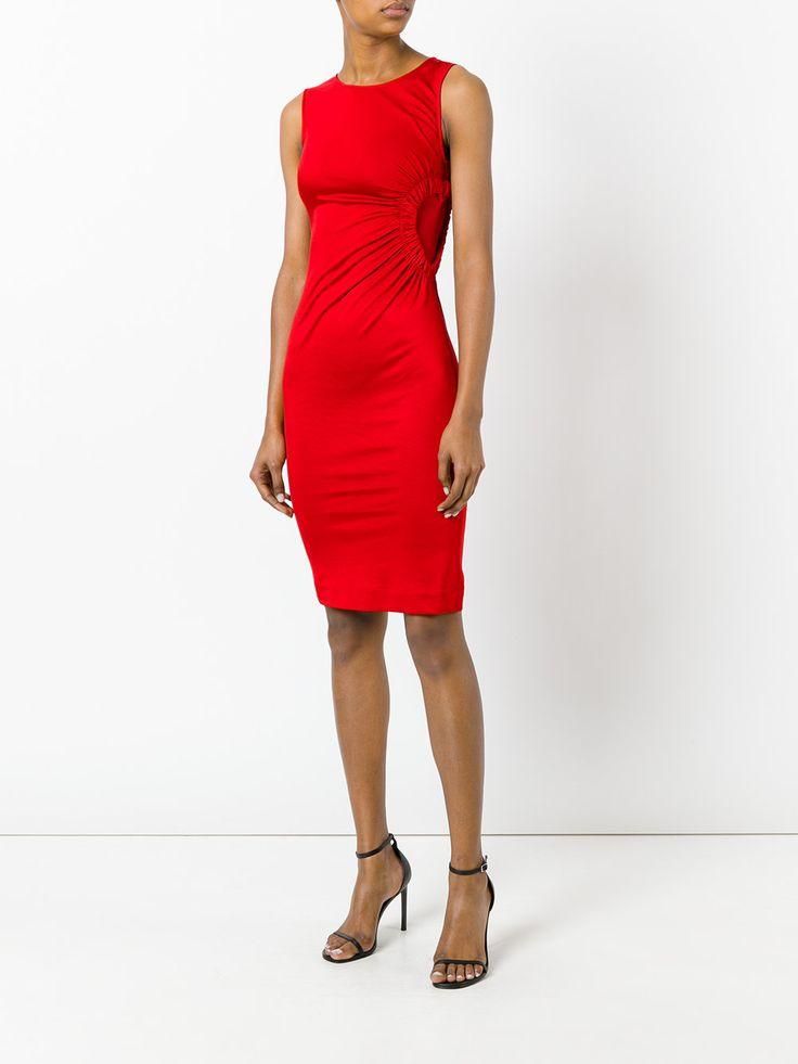 Love Moschino Платье с Присборенной Отделкой в Виде Сердца - Farfetch