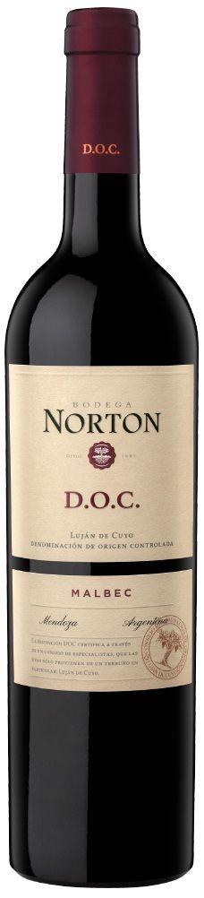 """Norton D.O.C."" Malbec 2013 - Bodega Norton, Luján de Cuyo, Mendoza--------------Terroir: Luján de Cuyo--------------Crianza: 12 meses en barricas de roble francés de primer y segundo uso"