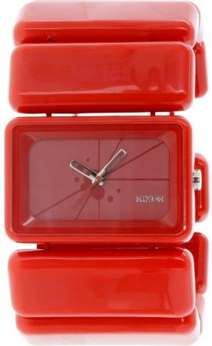 Nixon Women's Vega A726200 Red Plastic Japanese Quartz Fashion Watch