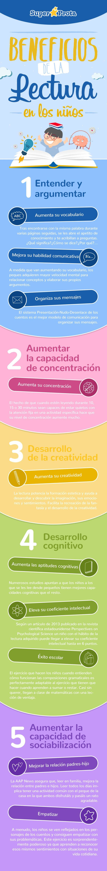 Beneficios de la lectura en los niños #infografia #infographic #education