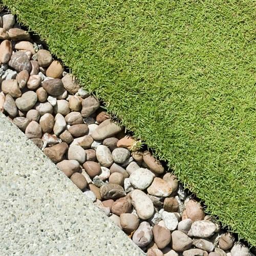 garden pebble edging - Google Search