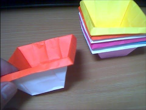 折紙カップ Cup type box === flimsy with kami, needs a sturdy paper