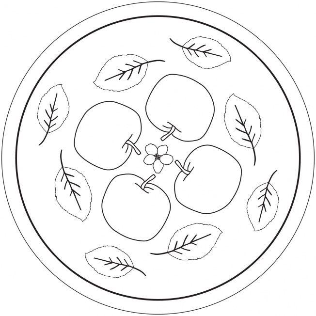 Apfel-Mandala