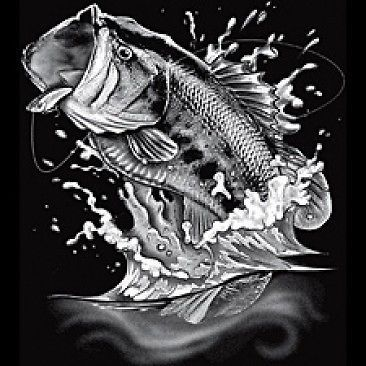 Big LargeMouth Bass Fishing T shirt |