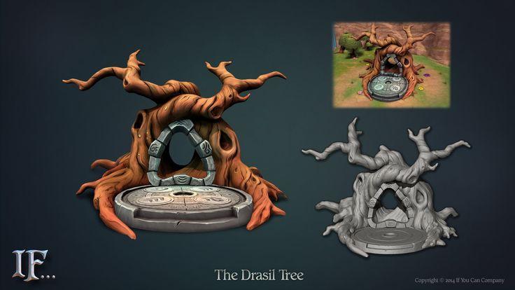 IF... - The Drasil Tree, Sam Beattie on ArtStation at https://www.artstation.com/artwork/if-the-drasil-tree