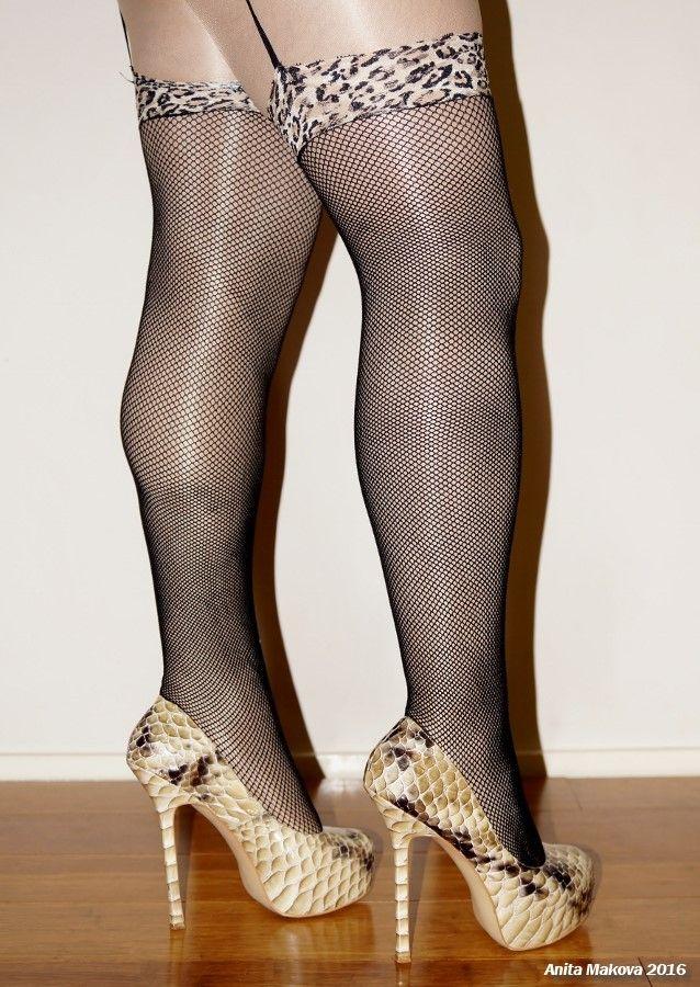 Wearing Fishnet Stockings