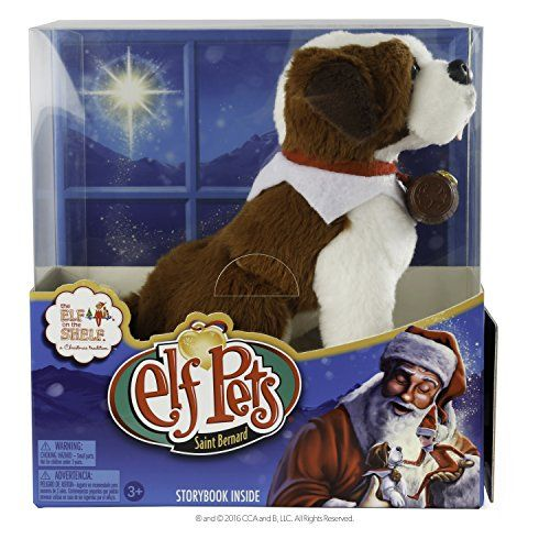 Elf on the Shelf Pets: A St. Bernard Tradition Plush The…